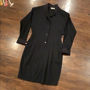 Missoni Donna Vintage Black Wool Button Up Dress